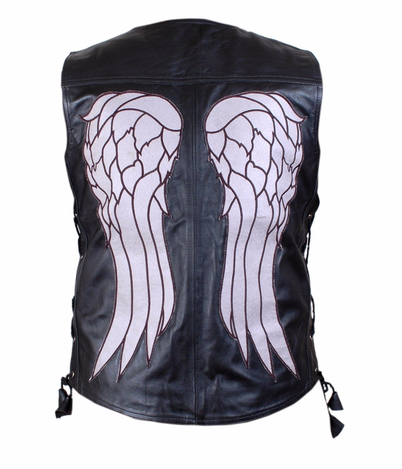 THE WALKING DEAD GOVERNOR DARYL DIXON ANGEL WINGS LEATHER VEST JACKET BNWT