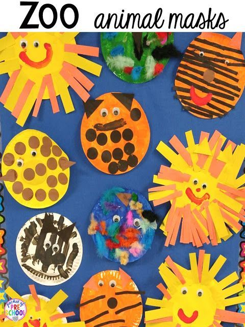 Zoo Animal paper plate masks for a zoo theme. Desert art FREEBIE. Prefect for preschool pre-k and kindergarten.  sc 1 st  Pinterest & Zoo Centers and Activities (Free Desert Art Activity | Paper plate ...