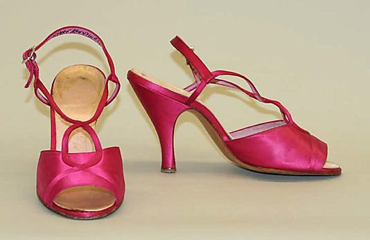 1950s, America - Evening sandals by Delman