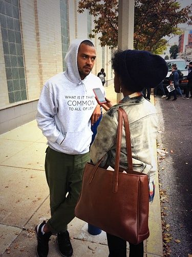 Jesse Williams visits Ferguson