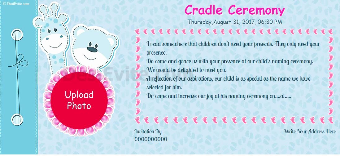Baby Naming Ceremony Invitation New Free Naming Ceremony Namakaran Invitation Card Line Naming Ceremony Invitation Invitation Card Format Naming Ceremony