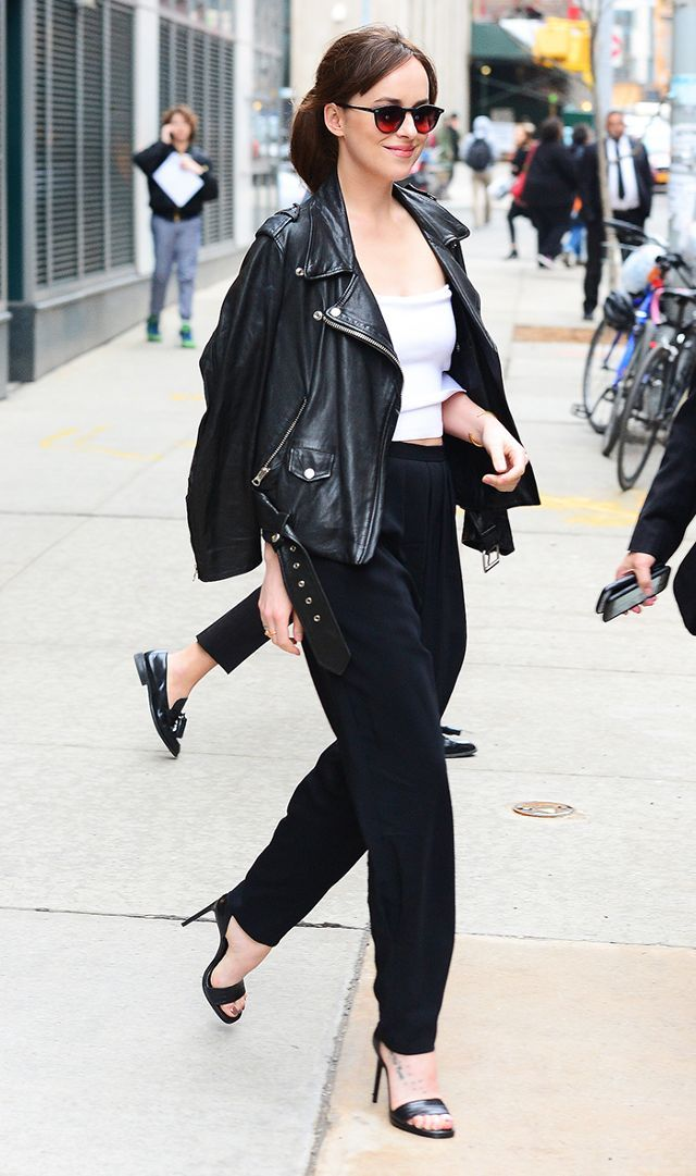 d93131af9360 dakota johnson leather jacket