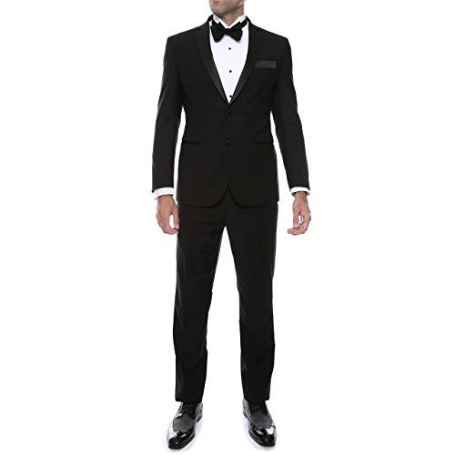 "Men's ""Ultra Soft"" Slim Fit Tuxedo with Notch Lapel | Smart Pinner"