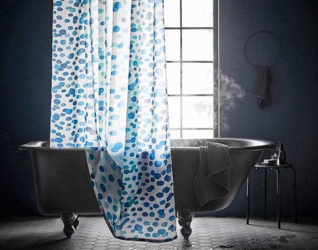 Duschvorhang Skorren In Blau Und Weiss Bild 4 Badezimmer