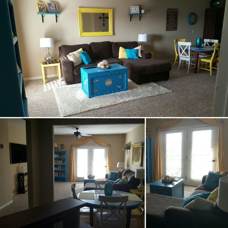 Ideas for decorating a living room in yellow/brown ...