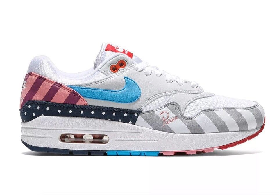 the best attitude d1842 23cdb Nike Air Max 1 Parra (2018) AT3057 100 9.5 US FREE SHIPPING  Nike   AthleticSneakers  Shoes  Trendy  TrendyShoesForMen  Men  MensShoes   StylishShoes  Style ...