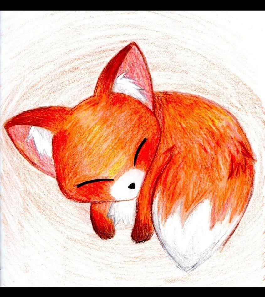 Cute Animals Baby Animal Drawings Cute Fox Drawing Cute Animal Drawings