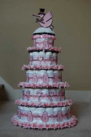 Pretty girl diaper cake