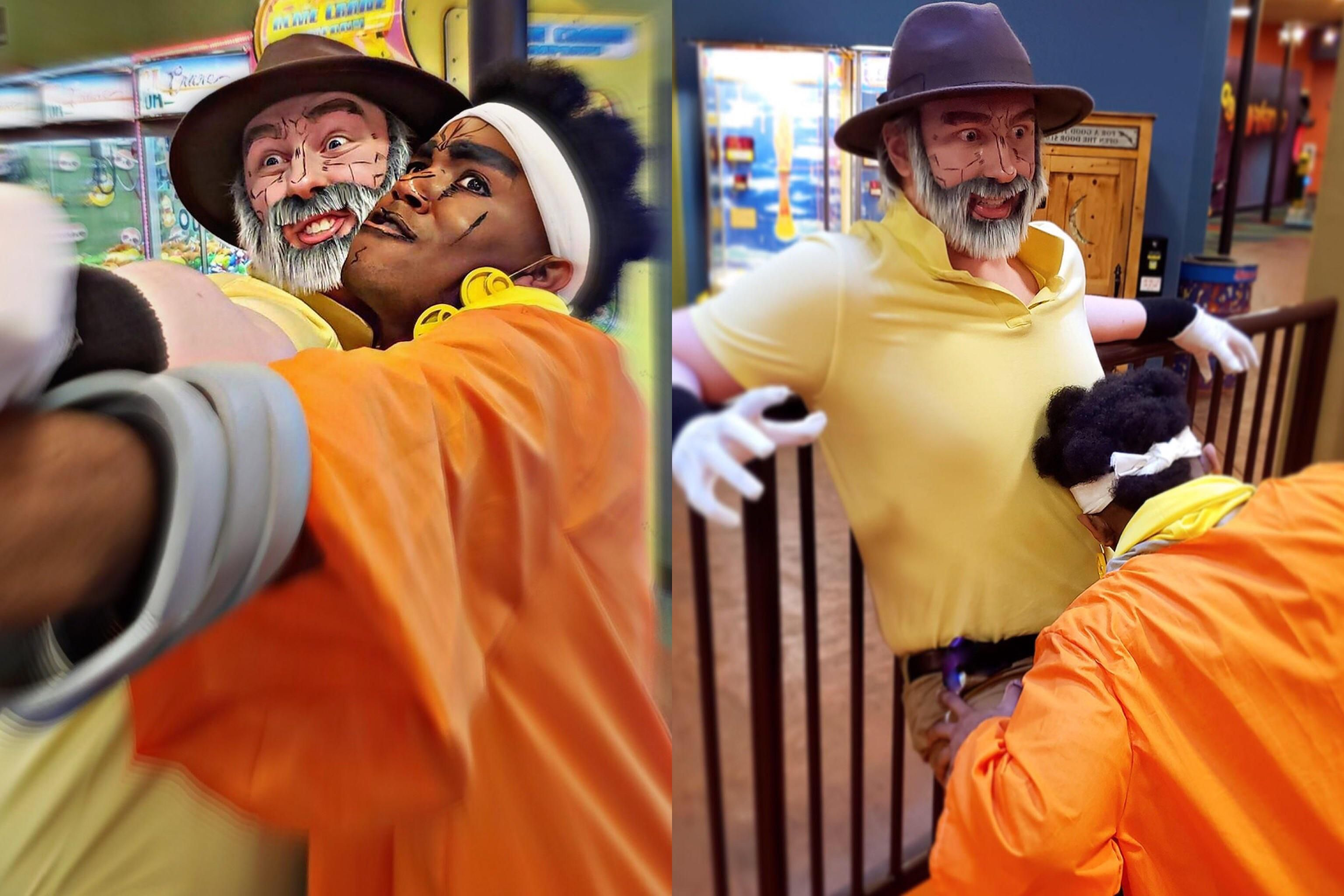 Myself and my friend cosplayed joseph and avdol from