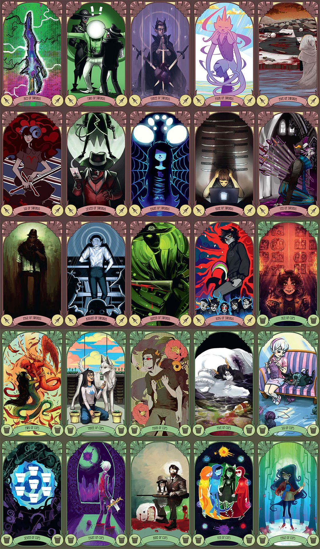 Homestuck Tarot Card Deck.