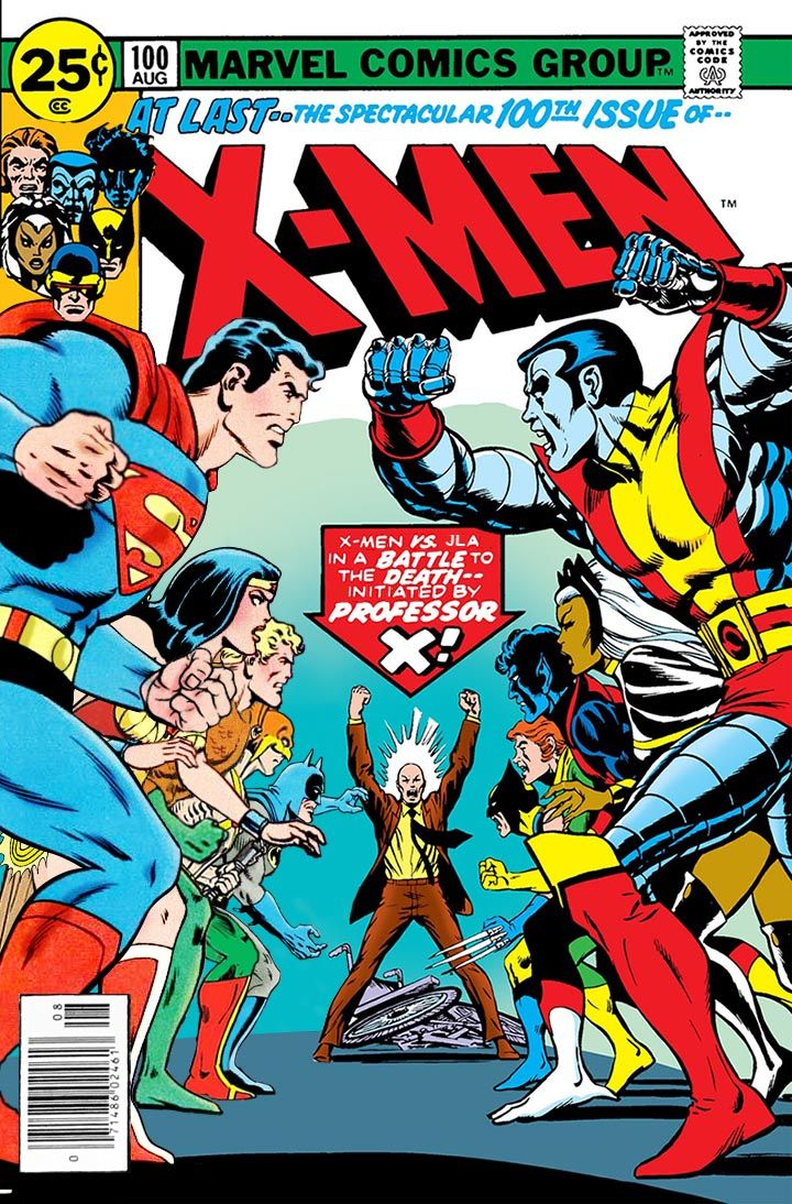 X Men Vs Justice League Marvel Comics Wall Art Vintage Comics Vintage Comic Books