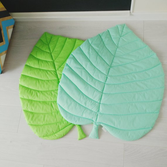 Monstera Leaf Rug Nursery Rug Tropical Nursery