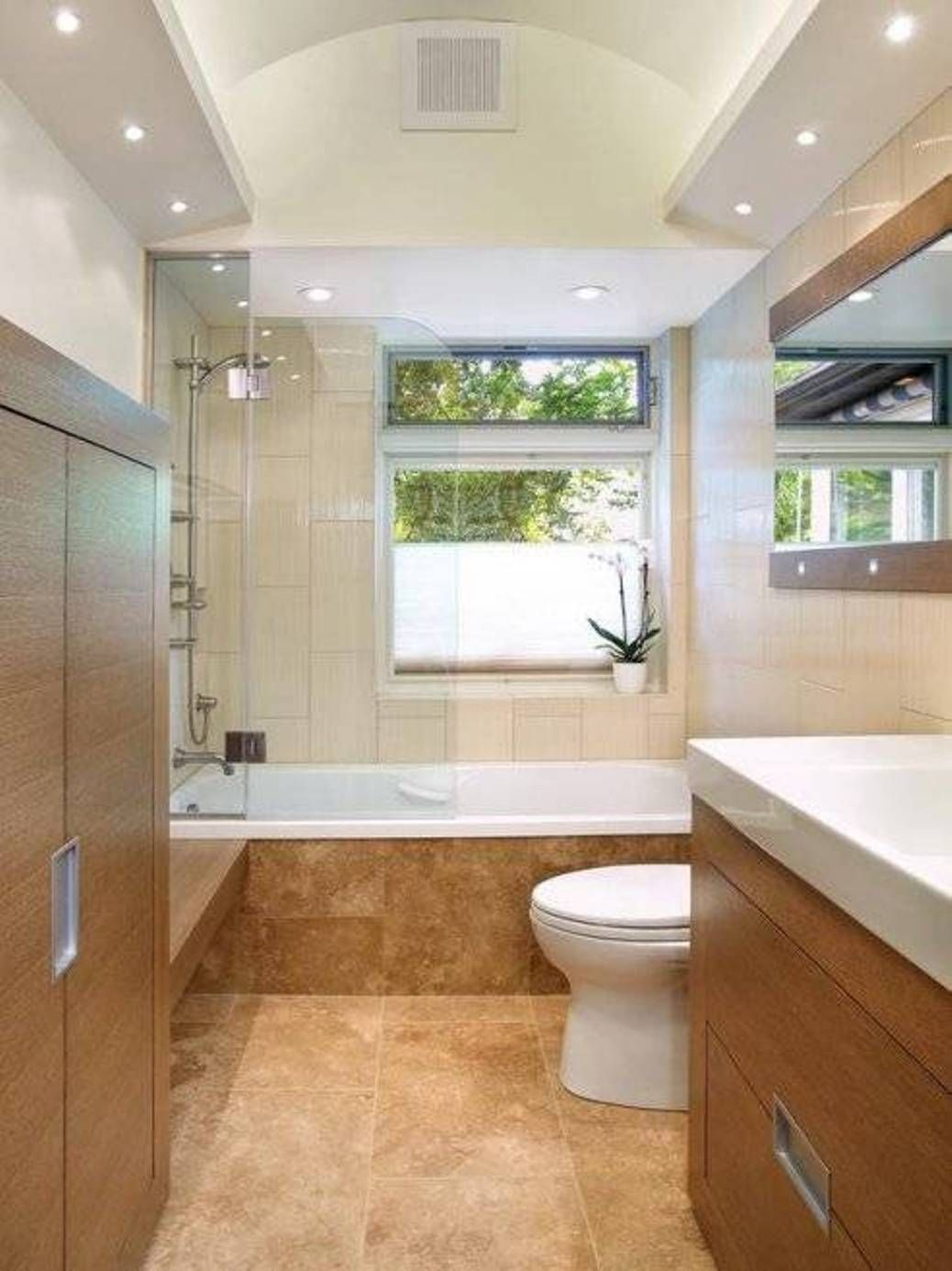 Lighting Fixtures , Small Bathroom Light Fixtures Ideas : Narrow ...