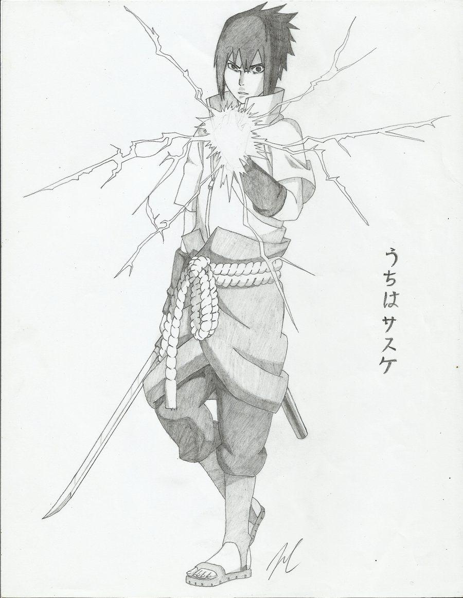 Sasuke Uchiha Chidori Desenhos De Anime Desenhos Assustadores