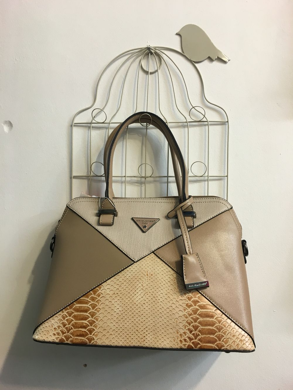 3192f372e2f Caramel textured grab bag from David Jones available in the nest ...