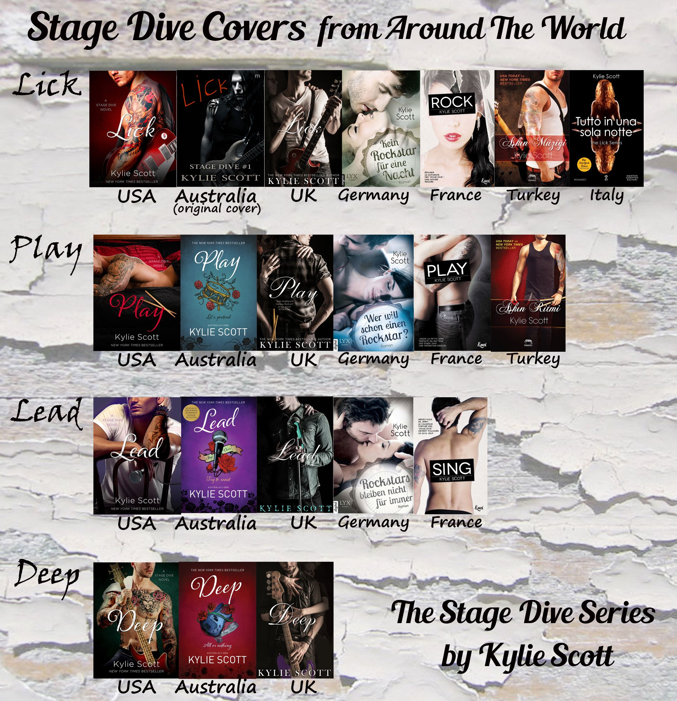 The stage dive series by kylie scott book covers from - Porno dive gratis ...