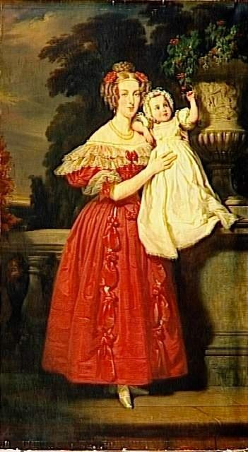 1833 Or 1834 Louise D Orleans Queen Of Belgium By Henri Decaisne
