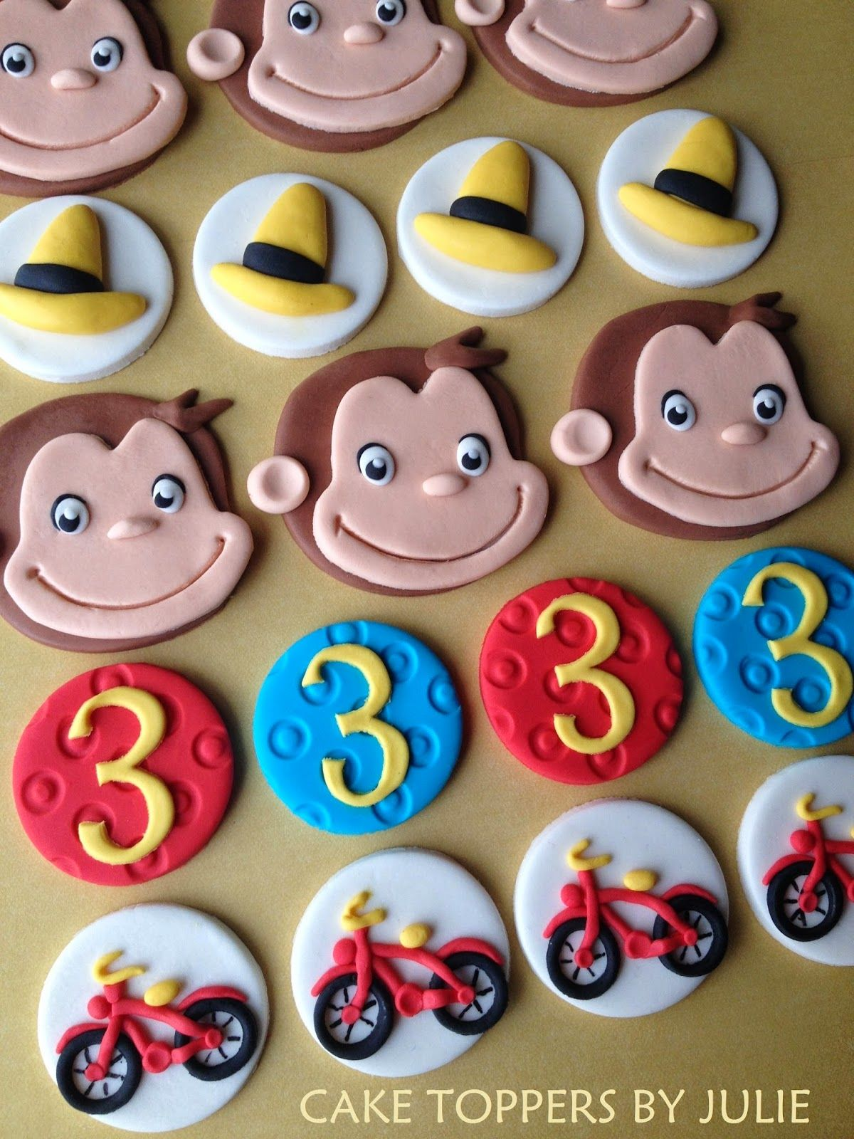 Curious George Toy Cake Topper