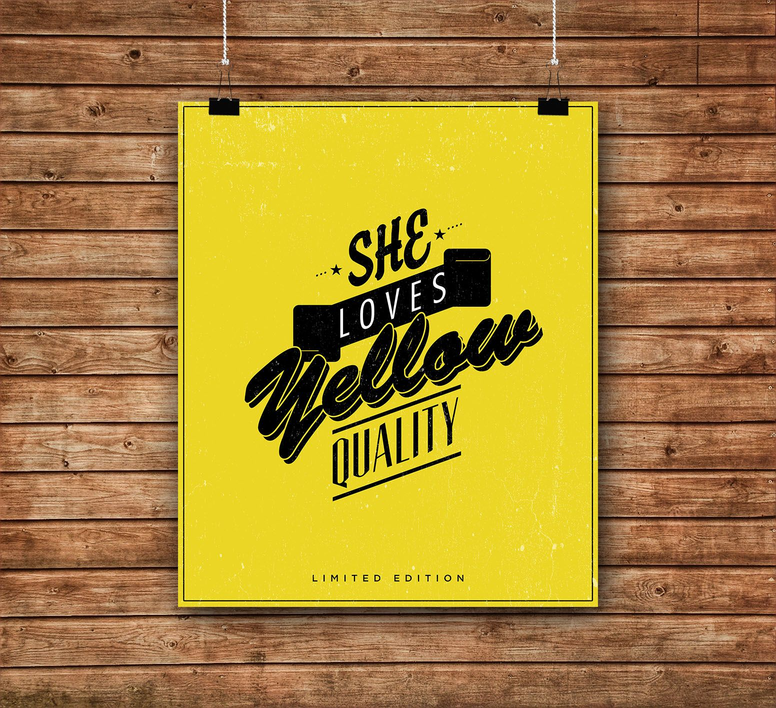 SHE LOVES YELLOW POSTER
