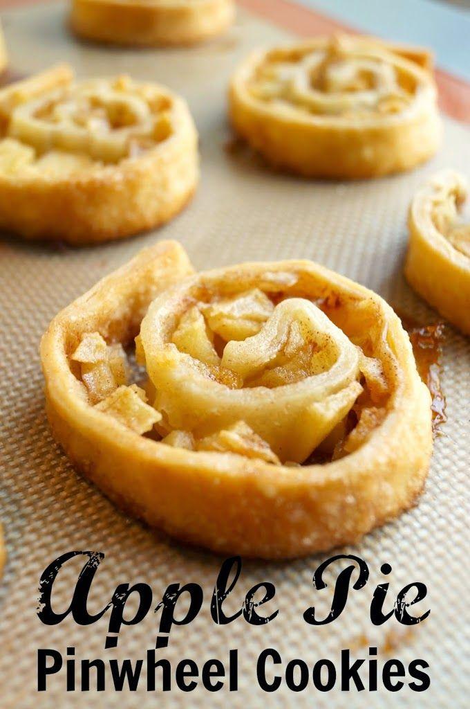 Apple Pie Pinwheel Cookies #applepie