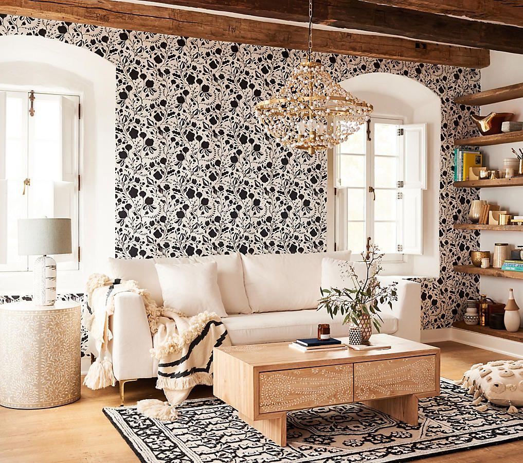 Anthropologie Queensland Wallpaper Living Room Designs Living Room Decor Home Decor