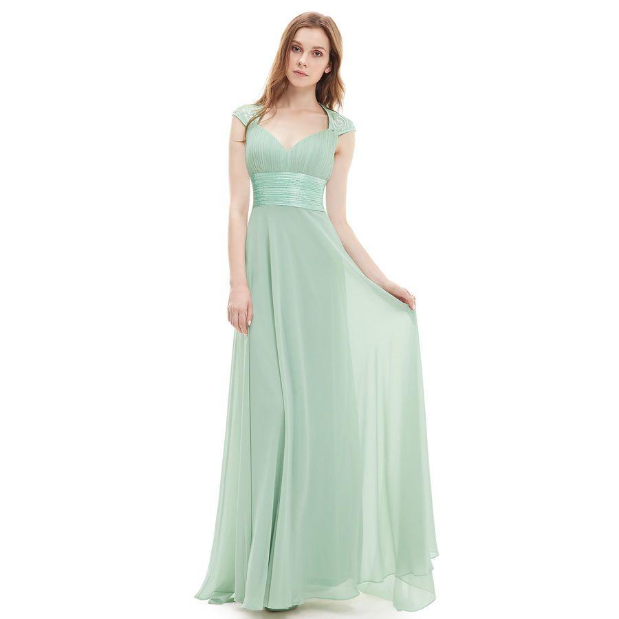 b6965cea94754 Ever-Pretty Long Prom Dress Bridesmaid Wedding Evening Formal Ball Gown  09672#Dress#Bridesmaid#Prom