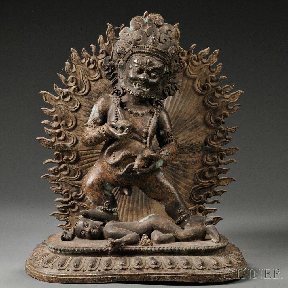 Large Bronze Figure of Jambhala | Sale Number 2736M, Lot Number 544A | Skinner Auctioneers