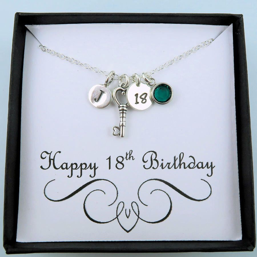18th Birthday Necklace For Women Personalised Birthday
