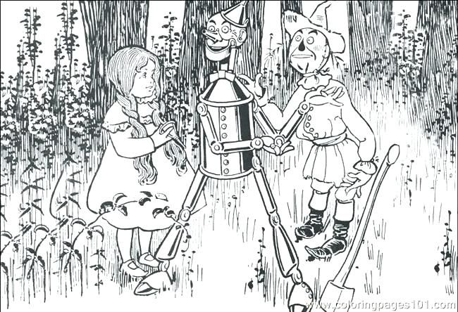 Wizard Of Oz Coloring Book Together With Wizard Oz 3 Coloring Page
