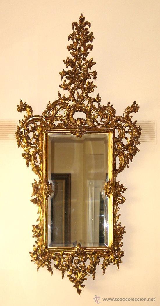 Wonderful Espejo Cornucopia Italiano,S.XIX En Todocoleccion