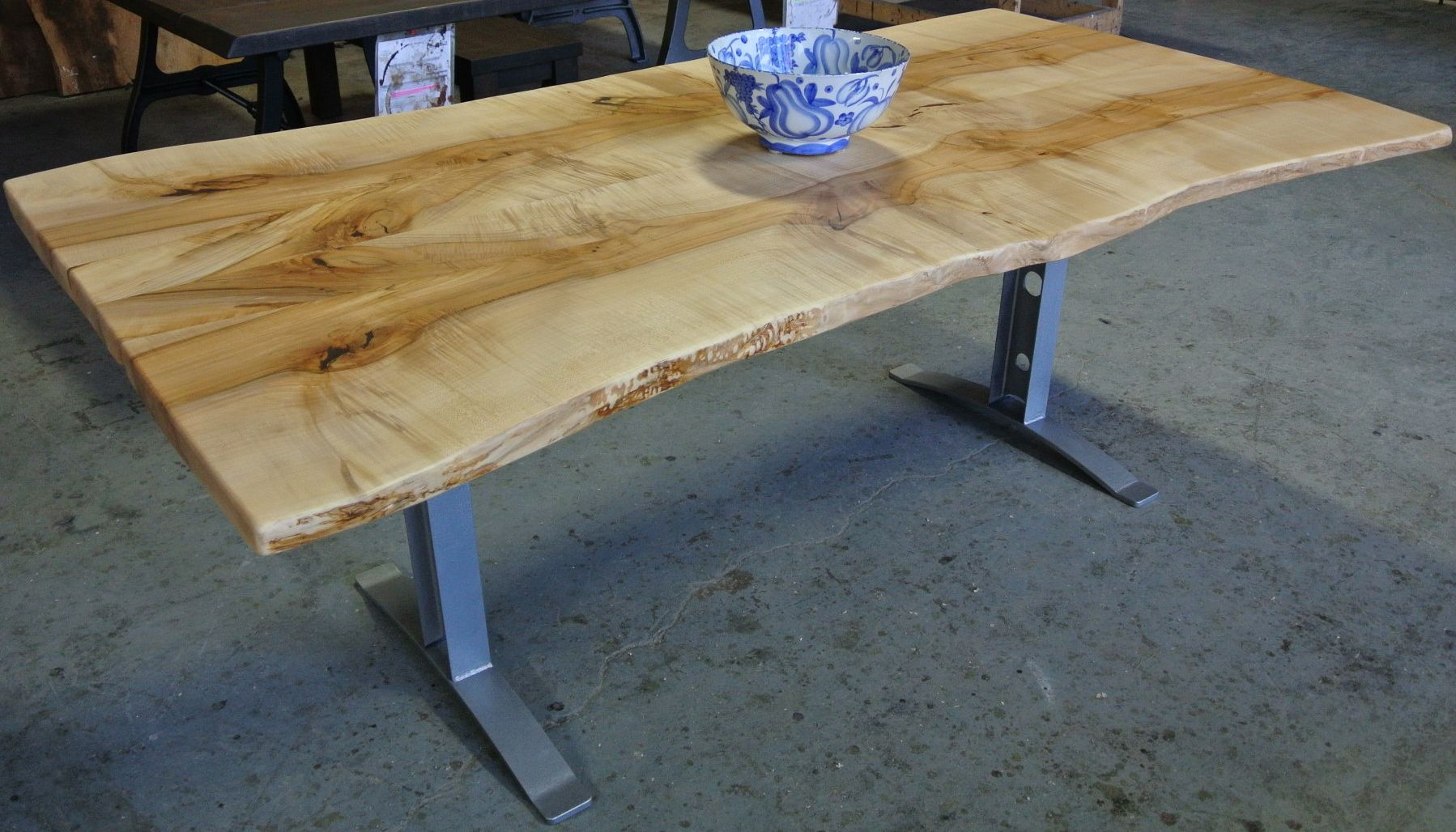 Charmant Maple Live Edge Dining Table Inspiration For Your Dining Room Tags: Maple  Live Edge Table, Maple Live Edge Furniture, Maple Live Edge Dining Table,  ...