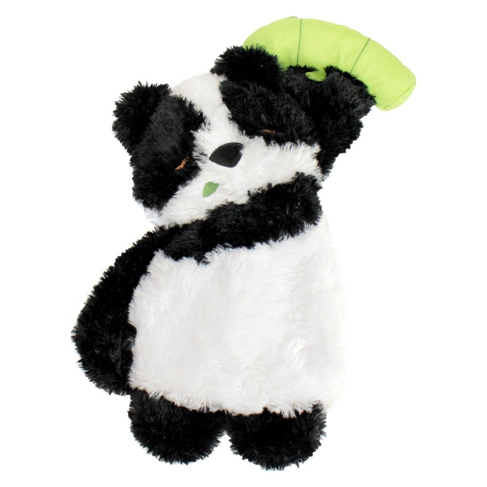 Squeaks Plush Dog Bamboo Panda Large Boots Barkley Multi