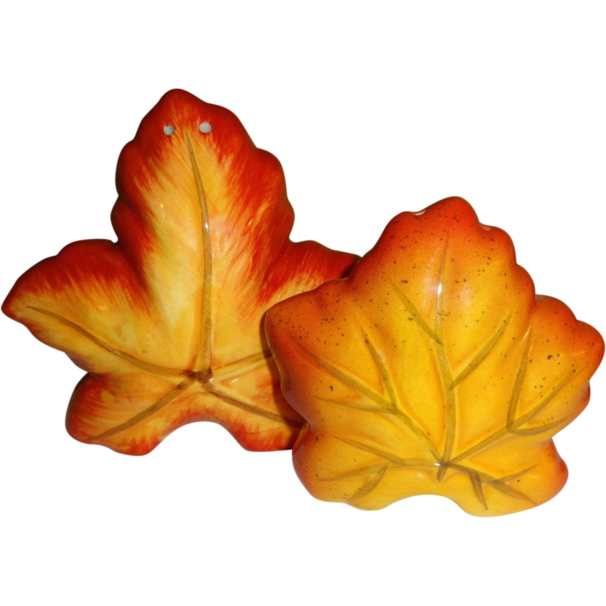fall leaves salt and pepper shakers | salt and pepper