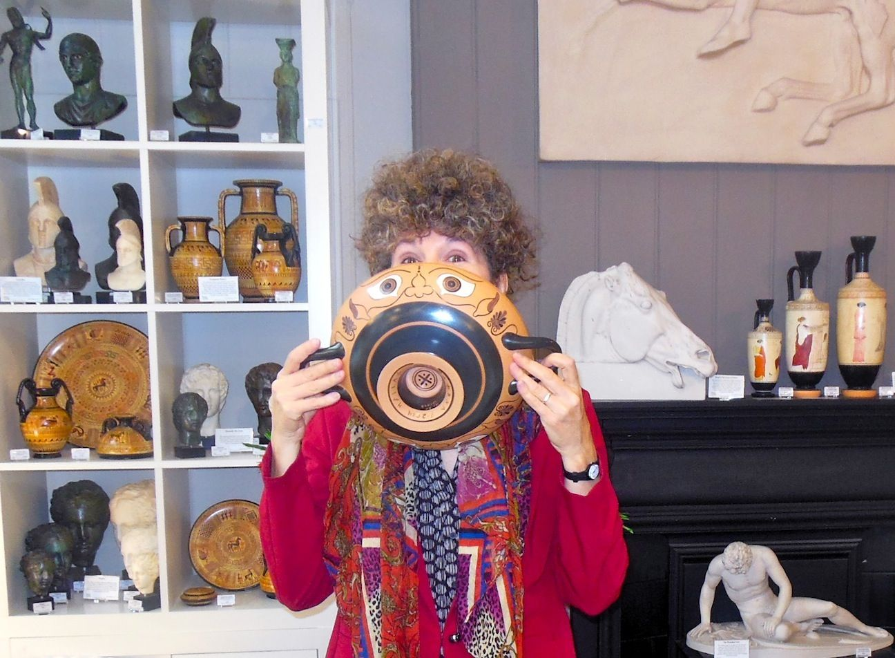 "With an apotropaic ""Eye Kylix"" at It's All Greek in London. www.itsallgreek.co.uk"