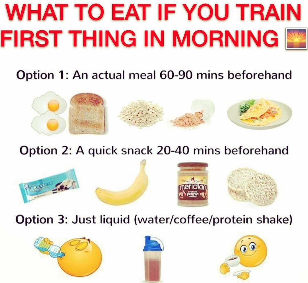 Do You Workout First Thing In The Morning Before Work 1your First Option Is Getting Up 60 90 Mins Before Pre Workout Food Workout Food Workout Food Morning