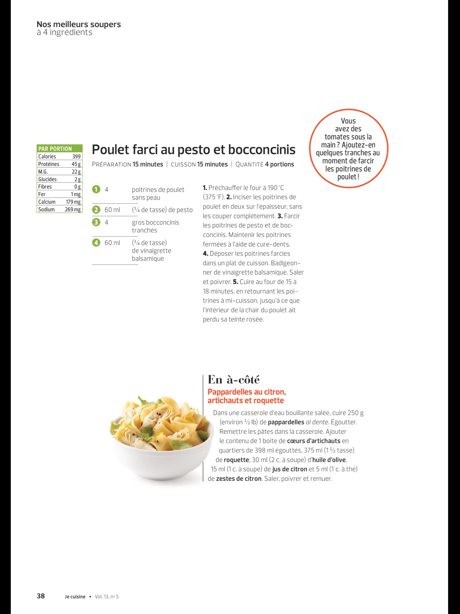 Nos Meilleurs Soupers à Ingrédients De JE Cuisine Août - Appli cuisine