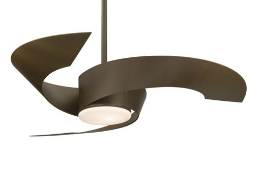 Curved Blade Ceiling Fan from Fanimation | Ceiling fans ...:A roundup of unexpectedly chic modern ceiling fans from a daily digital  magazine focusing on home decor and design.,Lighting
