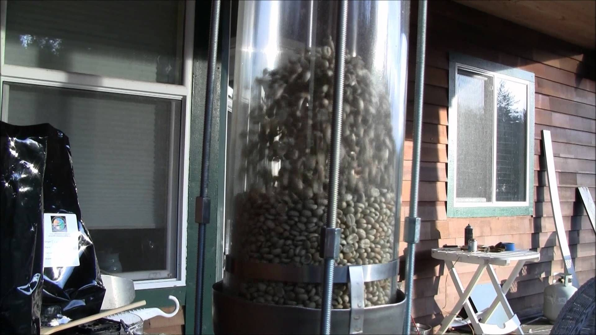Hot air coffee roaster Fluid bed coffee roaster .wmv