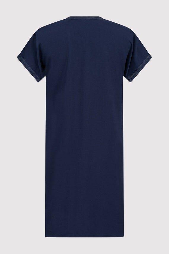 Gandoura Hamza boy's robe in Navy Blue (2-12yrs) #navyblueshortdress