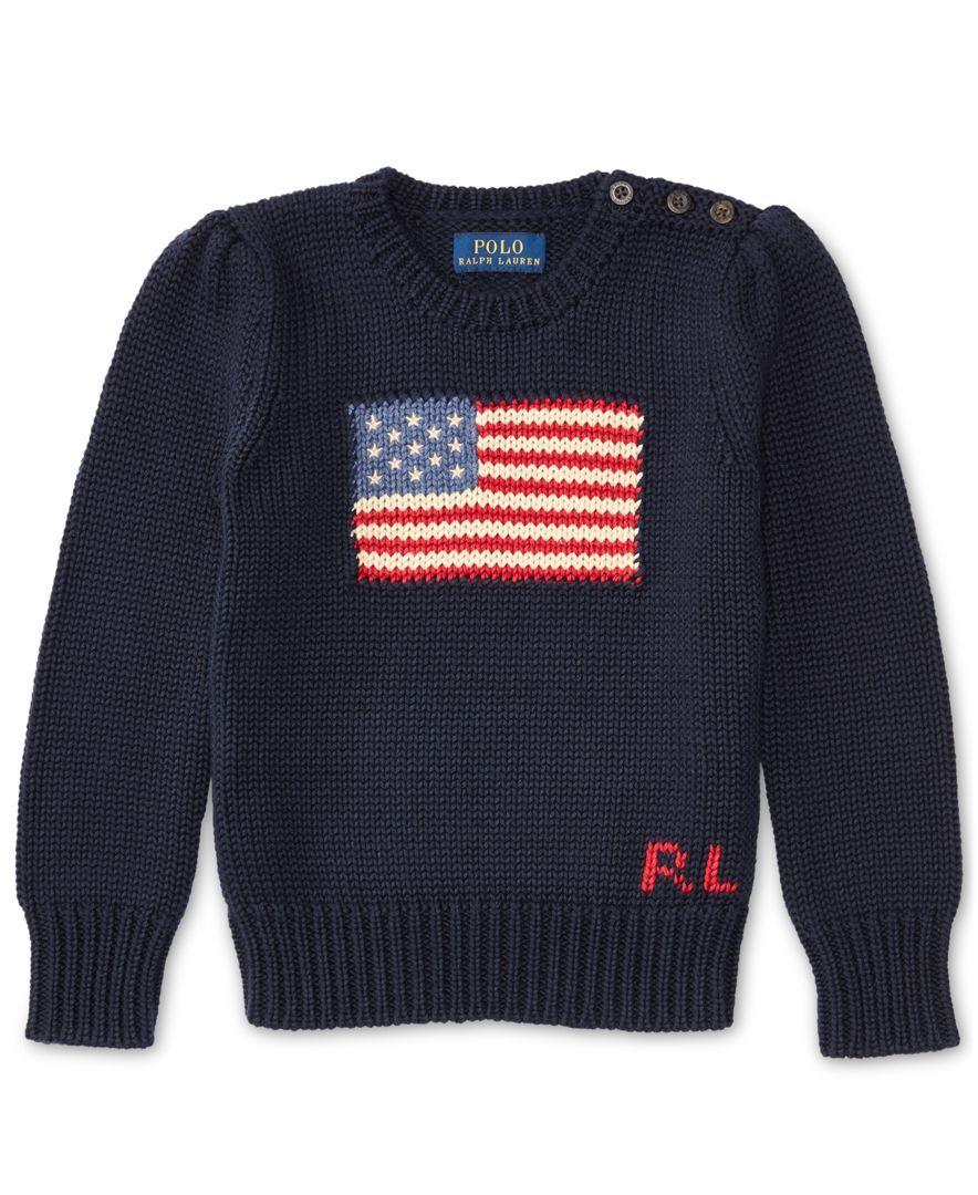 30cf6f2c07a0e Ralph Lauren American Flag Knit Cotton Sweater