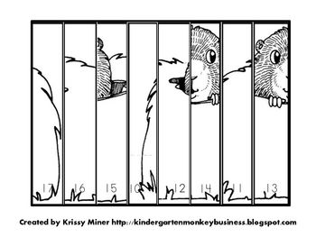 how to draw a groundhog kindergarten
