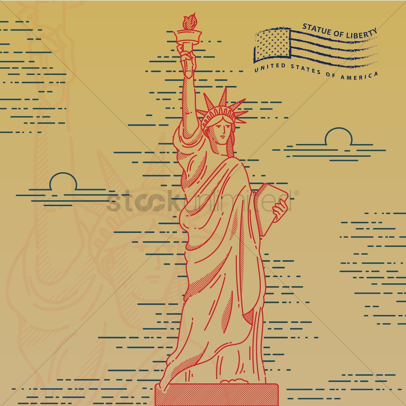 Statue Of Liberty Wallpaper Vectors Stock Clipart Ad