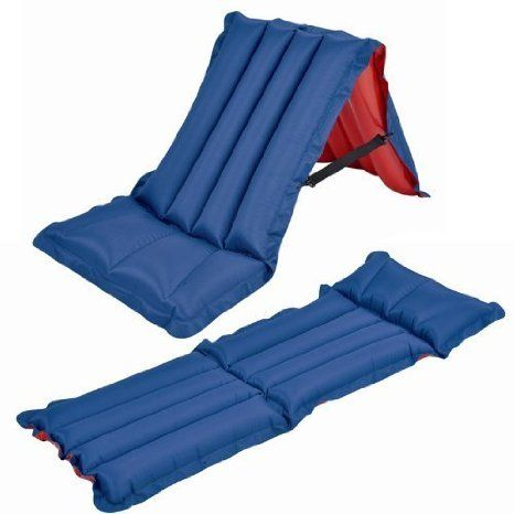 Inflatable Camping Chair Stand Score Single Folding Air Mattress Airbed Holiday Beach Mat Shopmonk