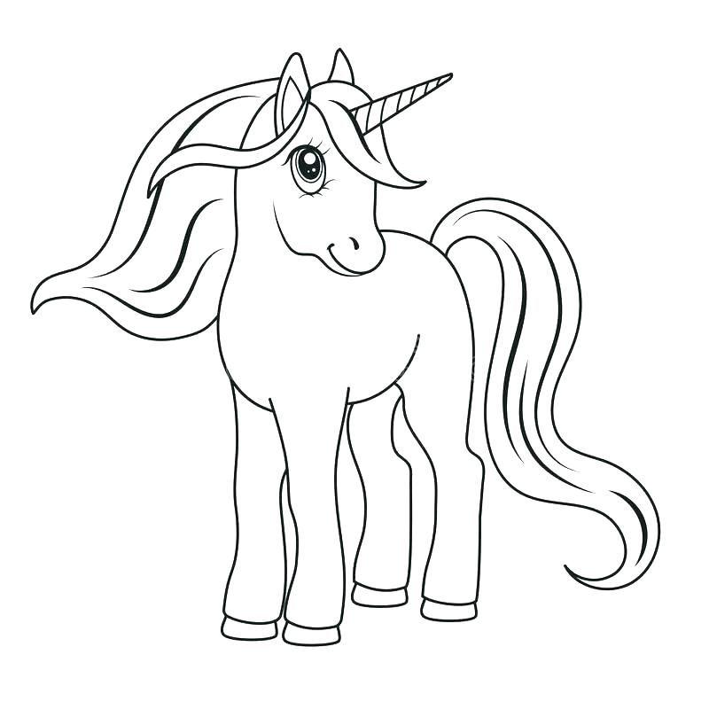Unicornio Para Colorear Para Imprimir Para Para Download Para L