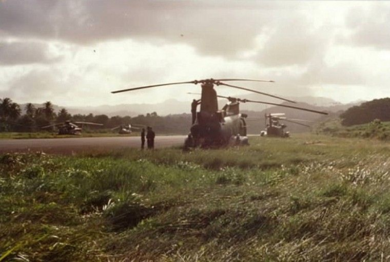 Helicópteros aterrizados