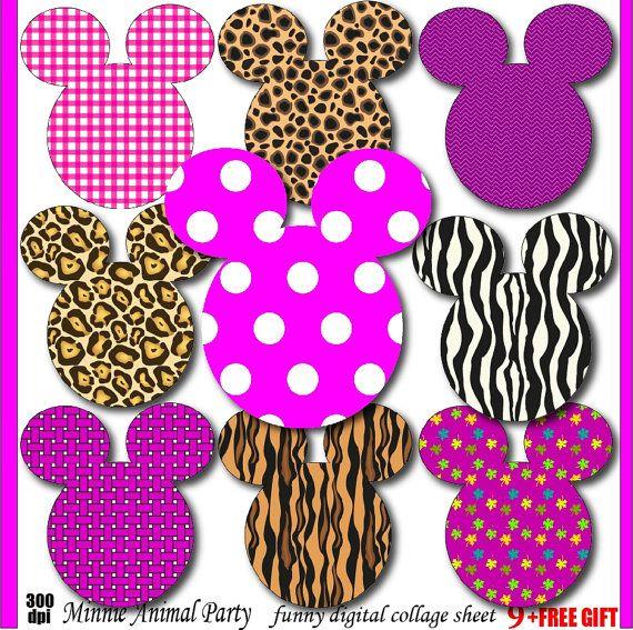 minnie clipart animal print minnie mouse birthday by digift rh cz pinterest com animal print letters clipart animal print numbers clipart
