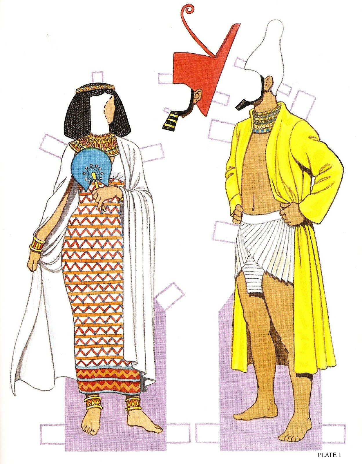 Tom tierney colonial fashions paper dolls - Ancient Egyptian Costumes Paper Dolls History Of Costume Series Tom Tierney