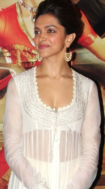 Dress no. 43 - Deepika in White dress during axis bank ...