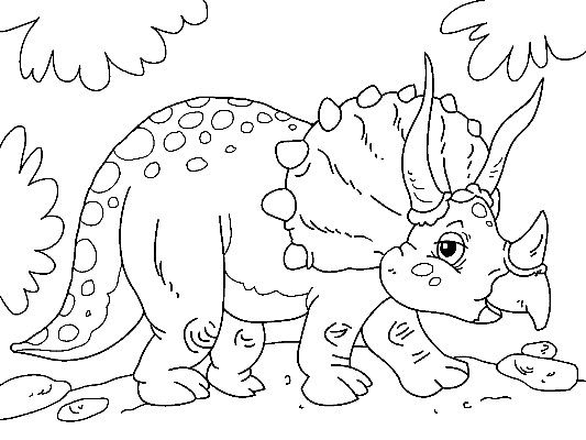 Triceratops Coloring Page Dinosaur Coloring Pages Dinosaur