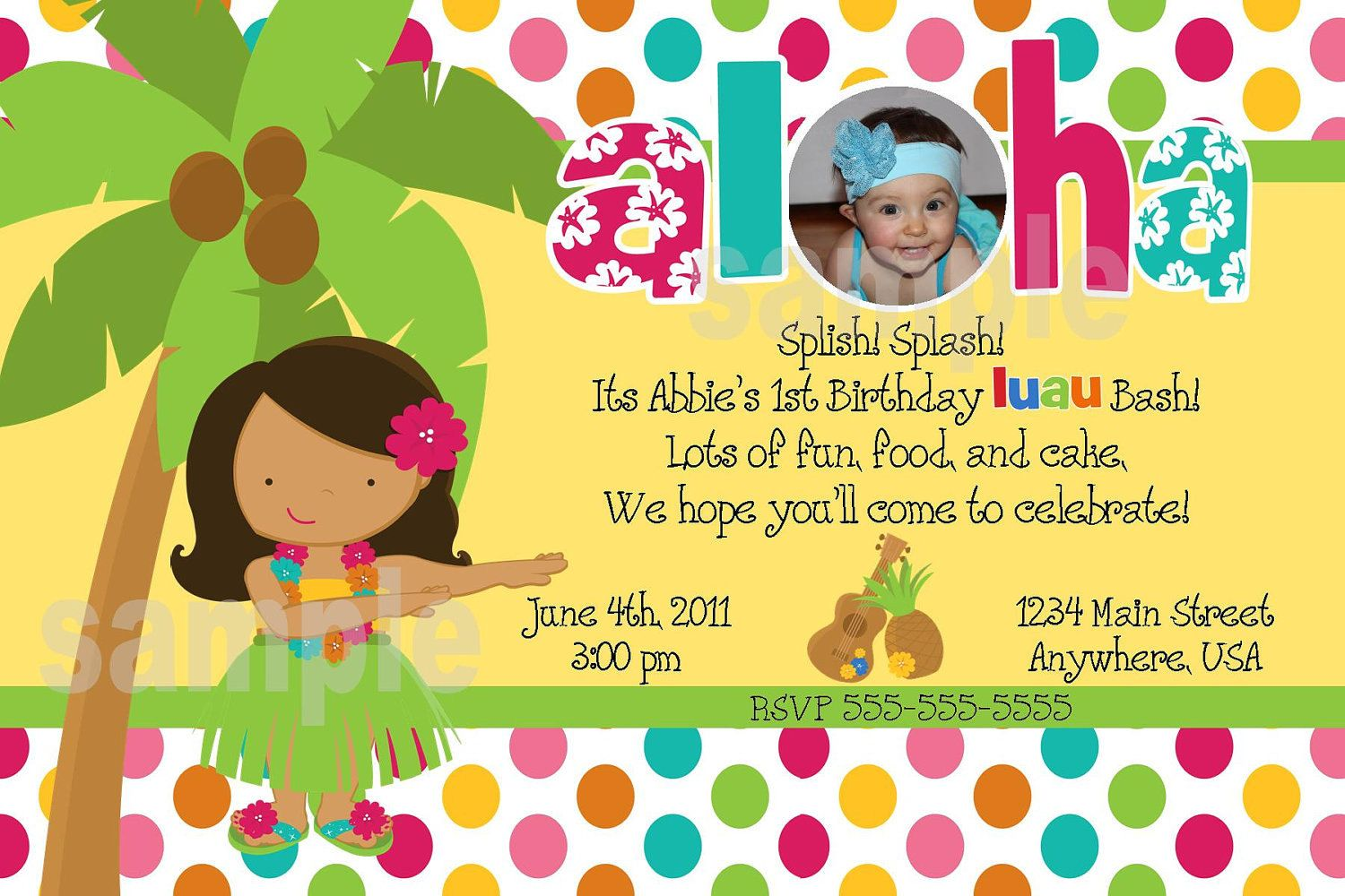 kids luau party ideas | Birthday Party Invitations For Kids